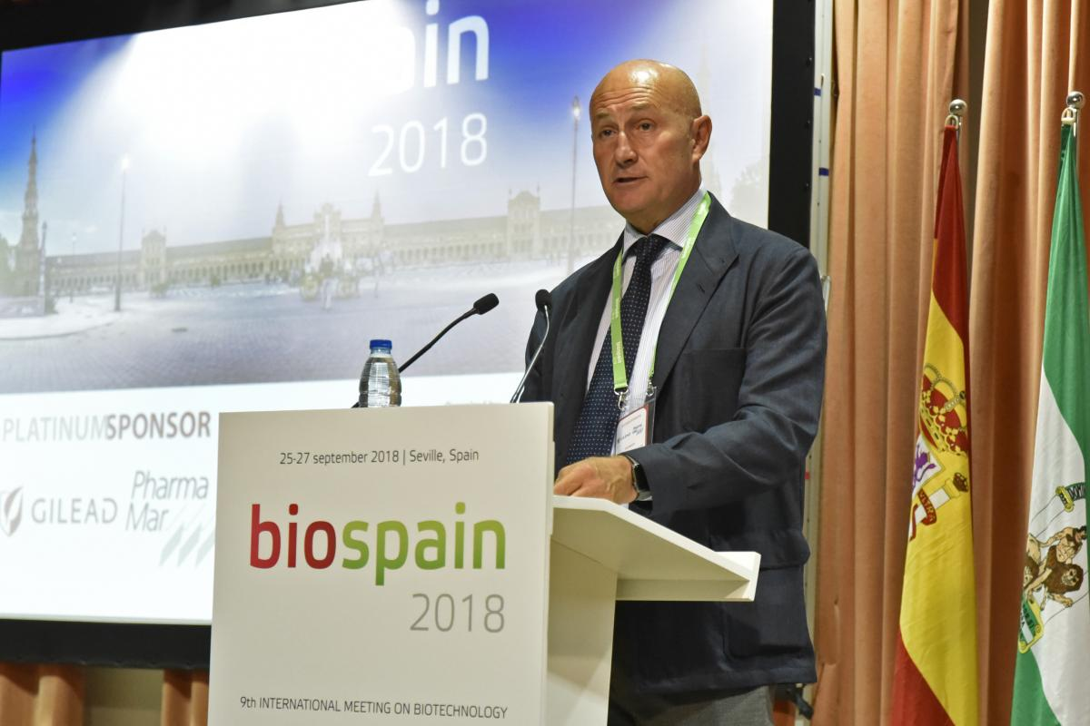 Jordi Martí, Chairman of Asebio, at the inaugural ceremony of BioSpain 2018