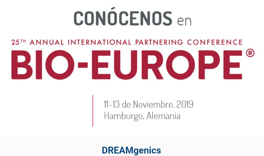 DREAMgenics estará en BIO-Europe 2019