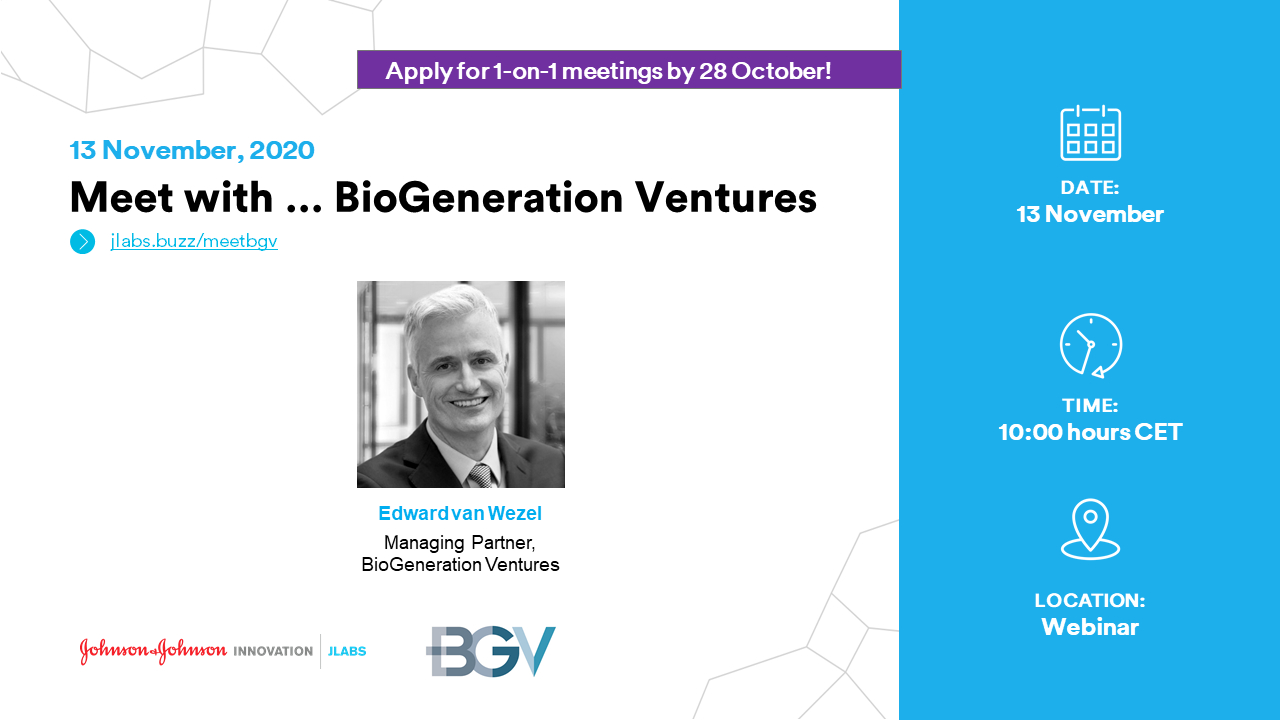 Meet with BioGeneration Ventures