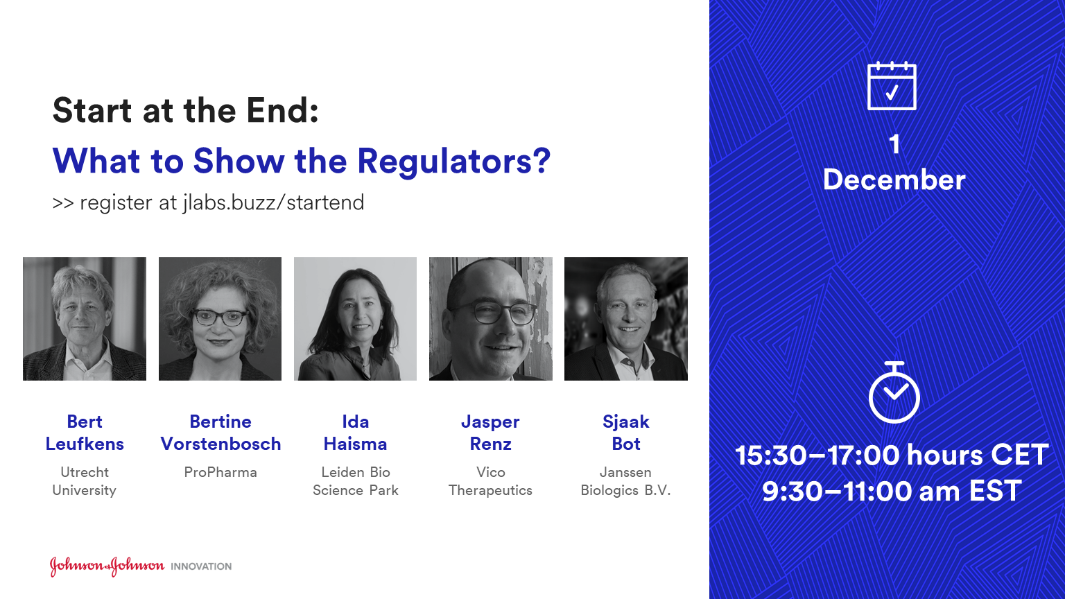 Start at the End: What to Show the Regulators?